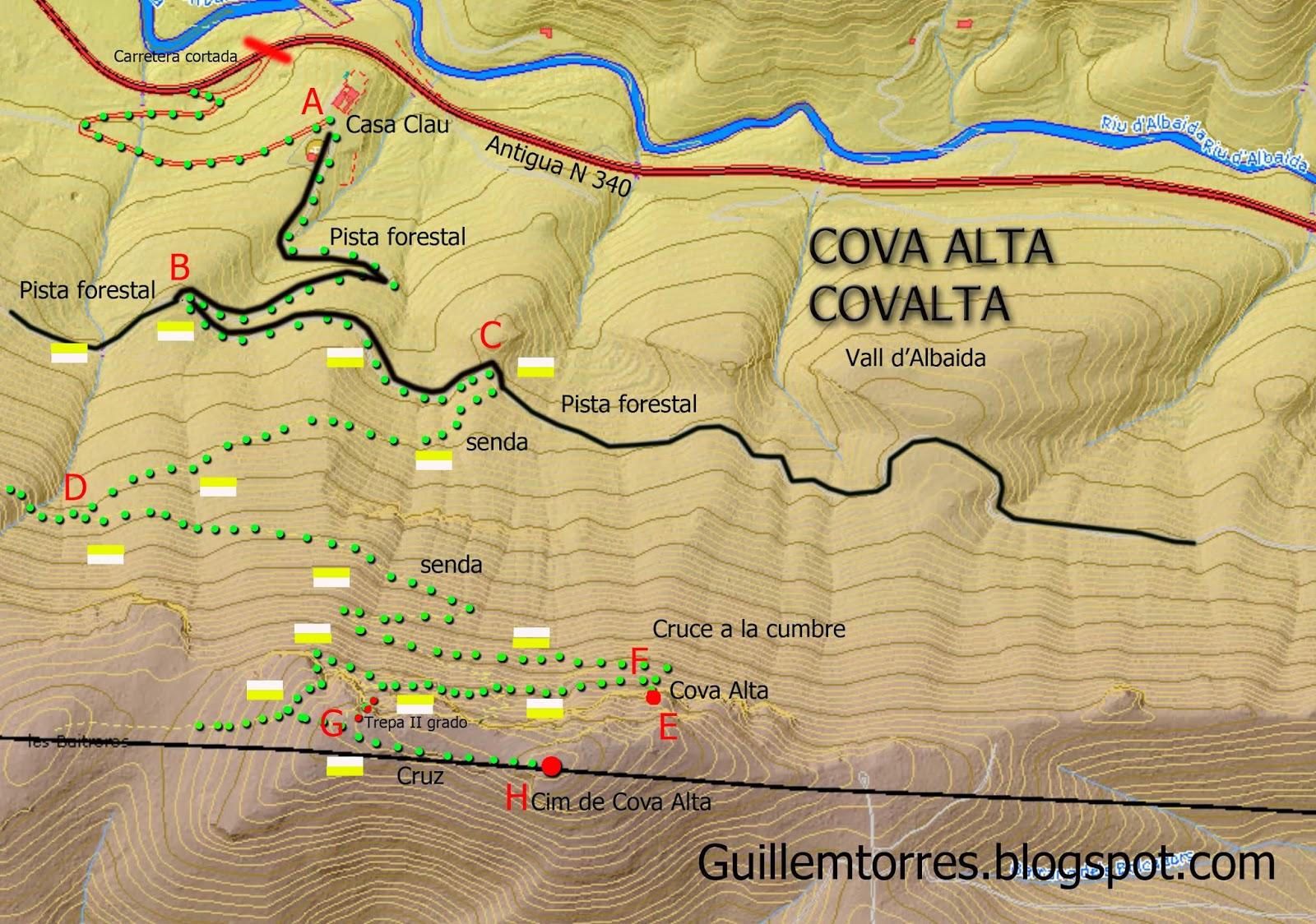 Croquis cova alta vall d'albaida