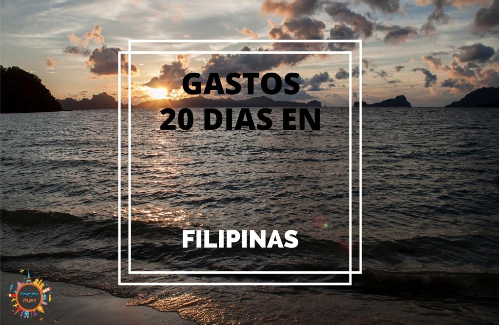 Gastos 20 dias en Filipinas