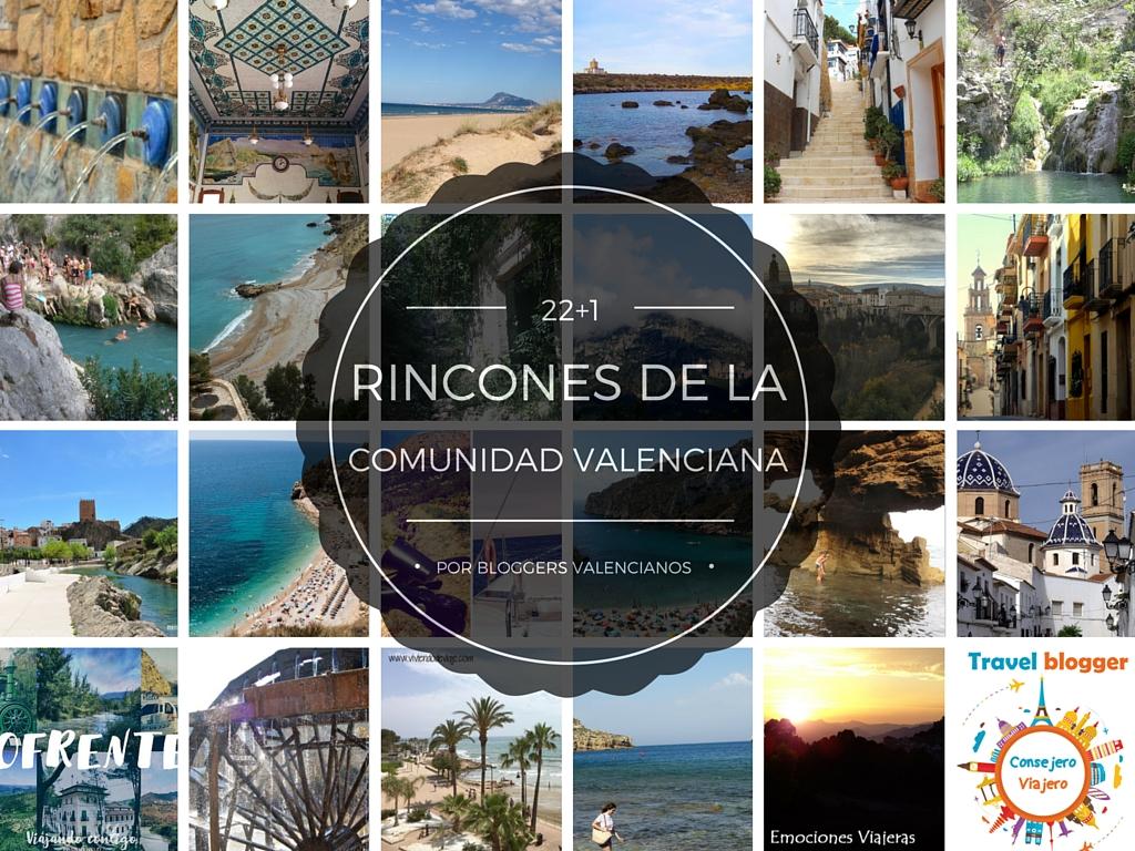 22 + 1 Rincones de la Comunidad Valenciana por bloggers Valencianos