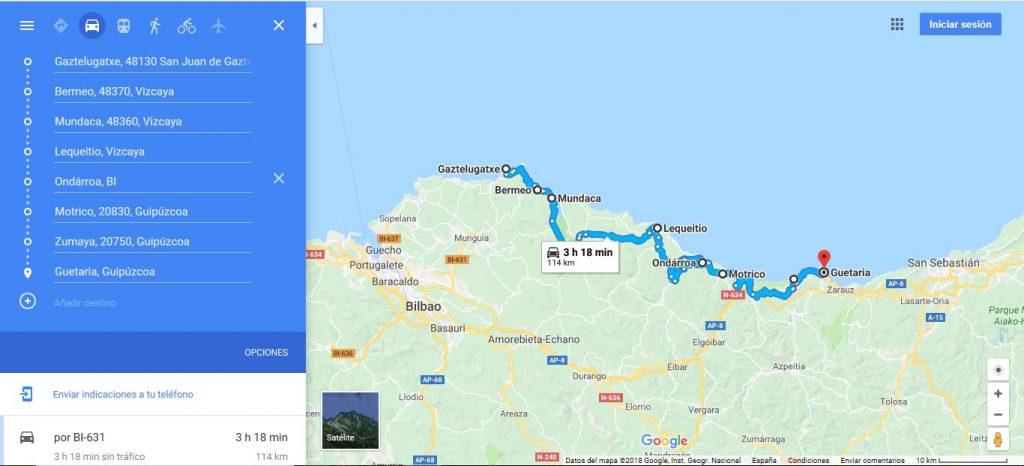 ruta pueblos costa vasca